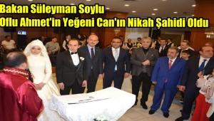 Bakan Süleyman Soylu Hemşerilerinin Düğününde Nikah Şahidi Oldu