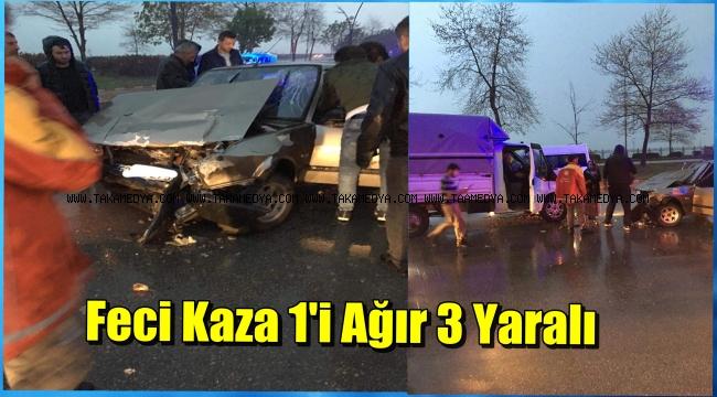 Giresun'da Kaza 1'i Ağır 3 Yaralı