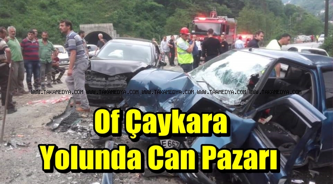 Of Çaykara Yolunda Kaza 1 Ölü 4 Yaralı