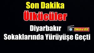 Ülkücüler Diyarbakır Sokaklarında Yürüyor