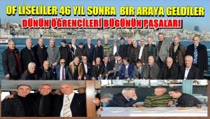 OF LİSESİ MEZUNLARI 46 YIL SONRA BULUŞTULAR