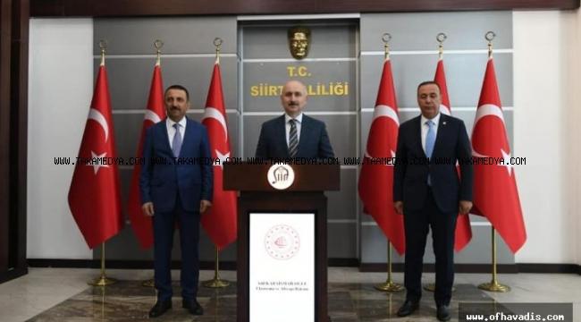 Bakan Karaismailoğlu'ndan Vali Hacıbektaşoğlu'na ziyaret