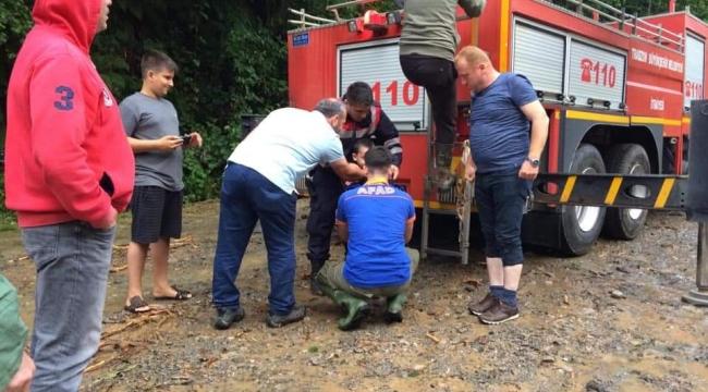 Trabzon'da Mahsur Kalan Vatandaşlar Kurtarıldı