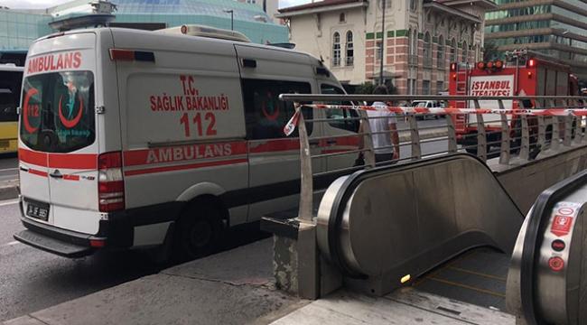 Şişli Mecidiyeköy Metro Hattında İntihar Girişimi