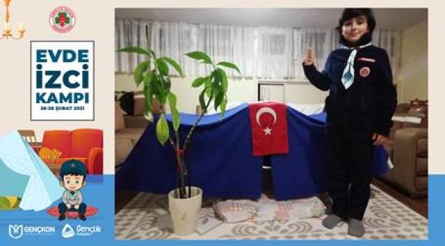 İZCİLER KAMP ÖZLEMİNİ EVLERDE GİDERDİ...