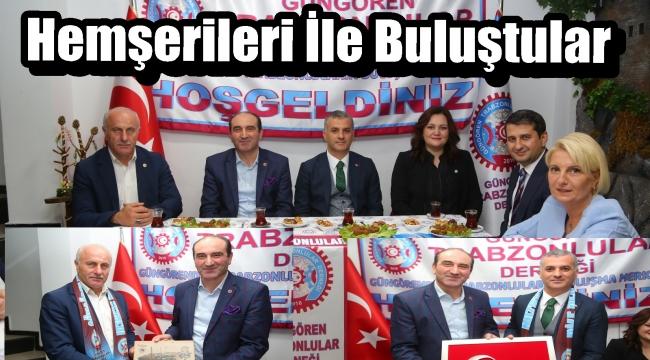Başkan İbrahim Yılmaz' Düzköy ve Yomra Belediye Başkanını Ağırladı