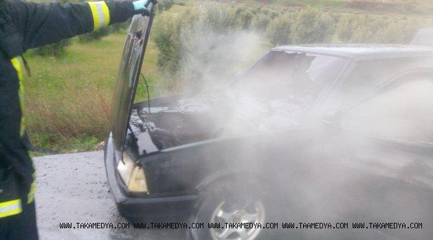 Araç Hareket halinde yandı