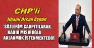 İlhami Özcan Aygun'KİMSE BENİ TRABZONLU VATANDAŞIMLA KARŞI KARŞIYA GETİREMEZ