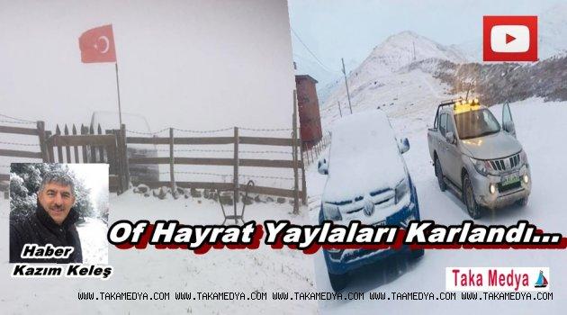 Trabzon Yaylaları Karlandı