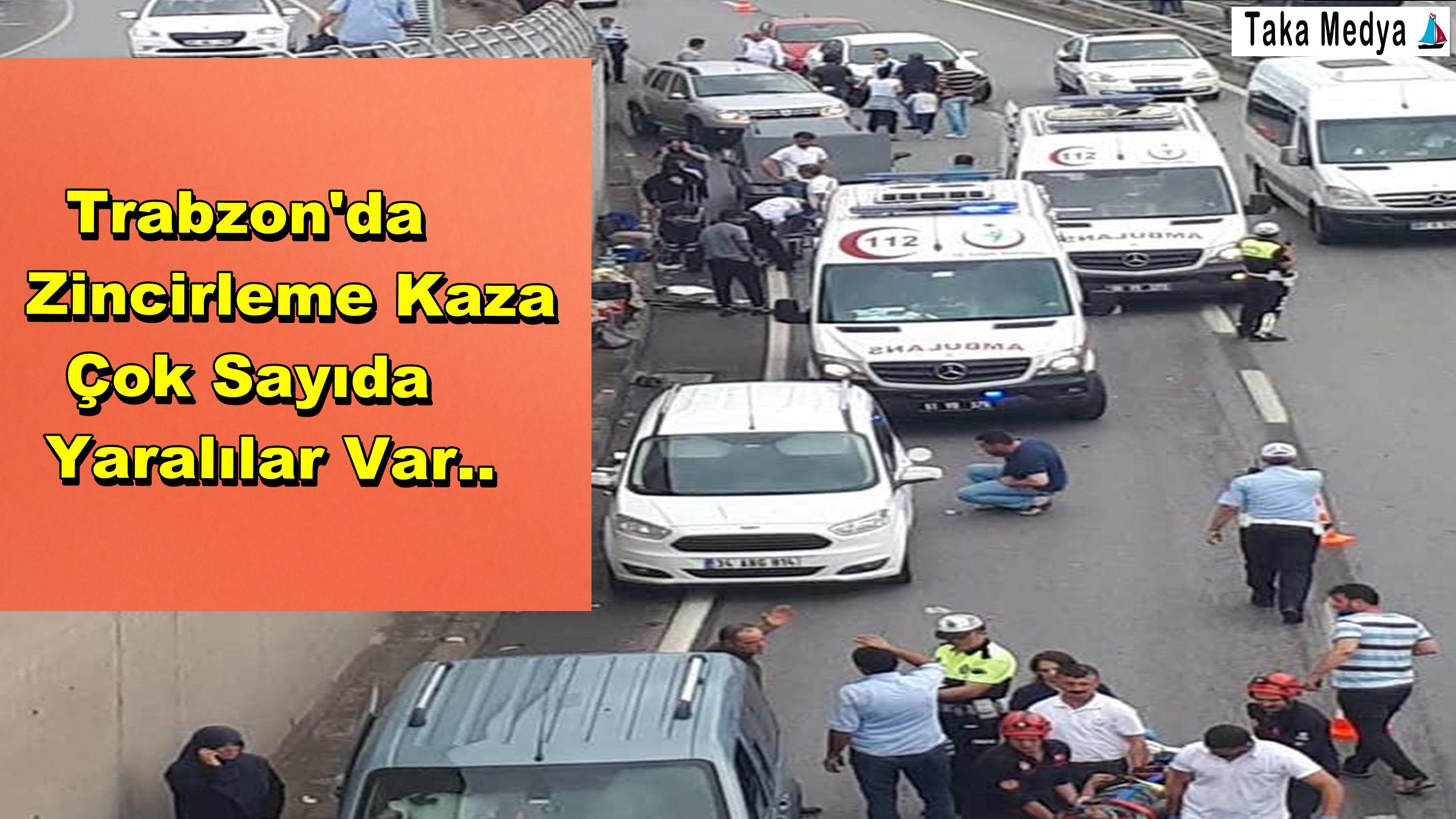 Trabzon'da Kaza Yaralılar Var